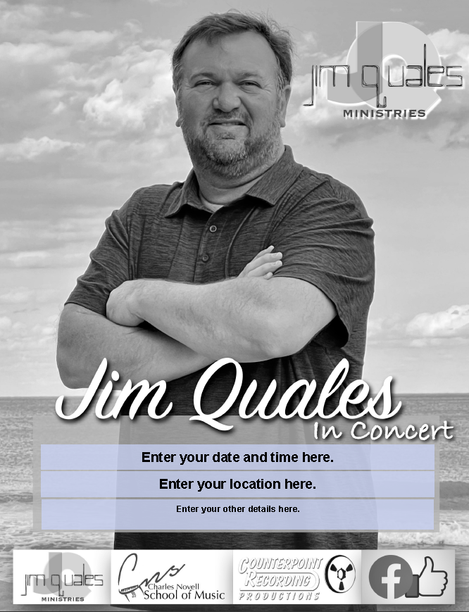 Jim Quales grayscale poster