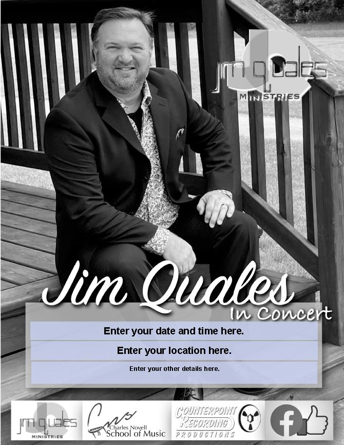 Jim Quales grayscale photo
